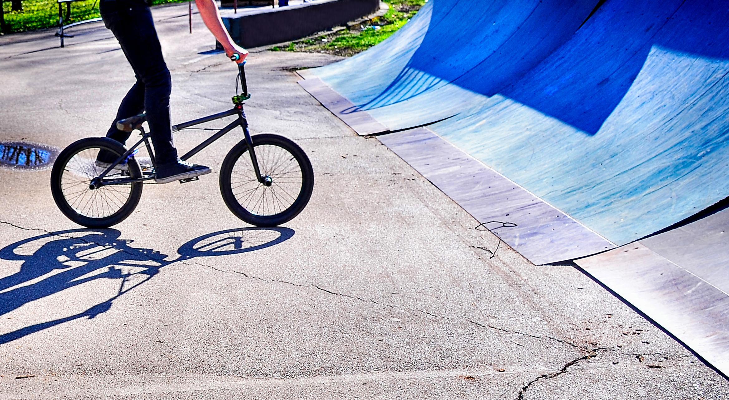 Urban BMX riding