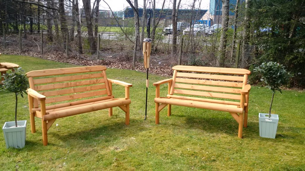 sensory garden benches