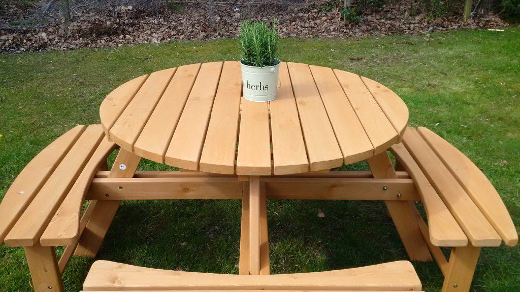 sensory garden table