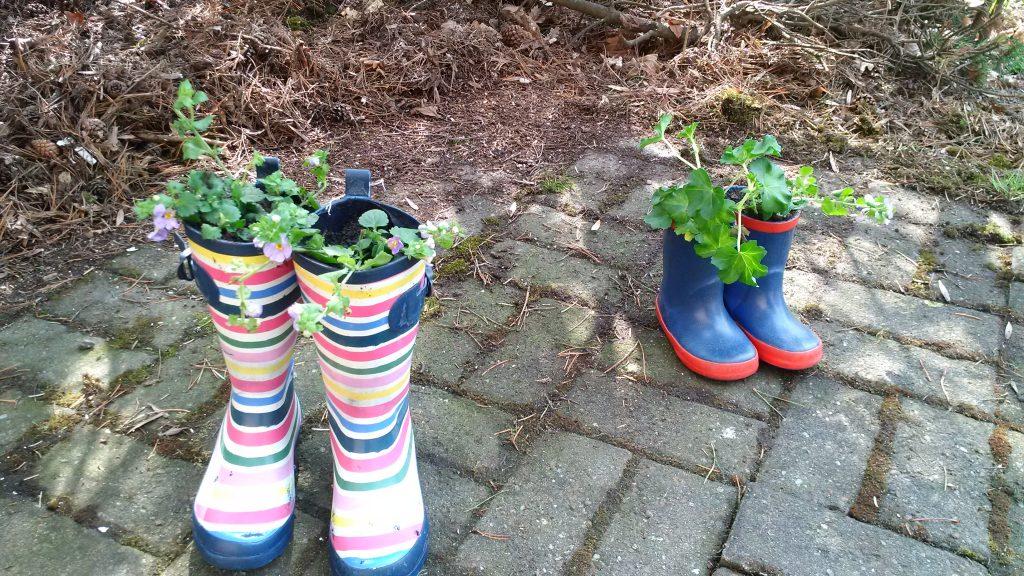 sensory garden wellies